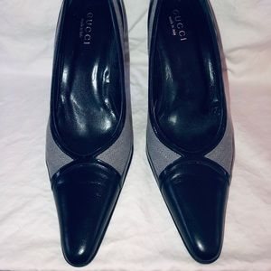 GUCCI Patent Leather Tuxedo Style Patent Pump
